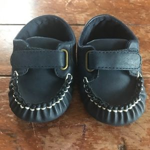 Navy Boat Shoes Baby Boy 6-12mo / 2